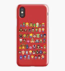 Super Smash Bros Wii U - Pixel Art Characters iPhone Case/Skin