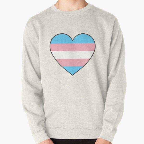trans pride heart Pullover Sweatshirt