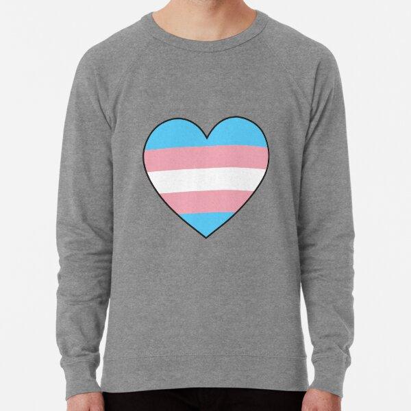 trans pride heart Lightweight Sweatshirt