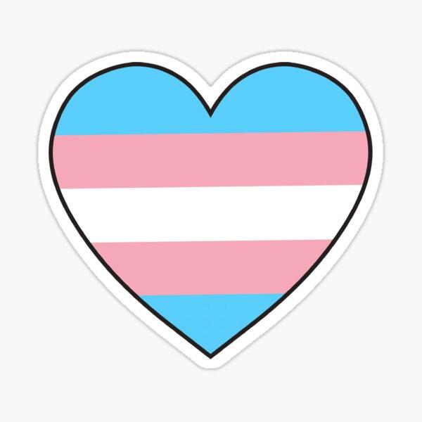 trans pride heart Sticker