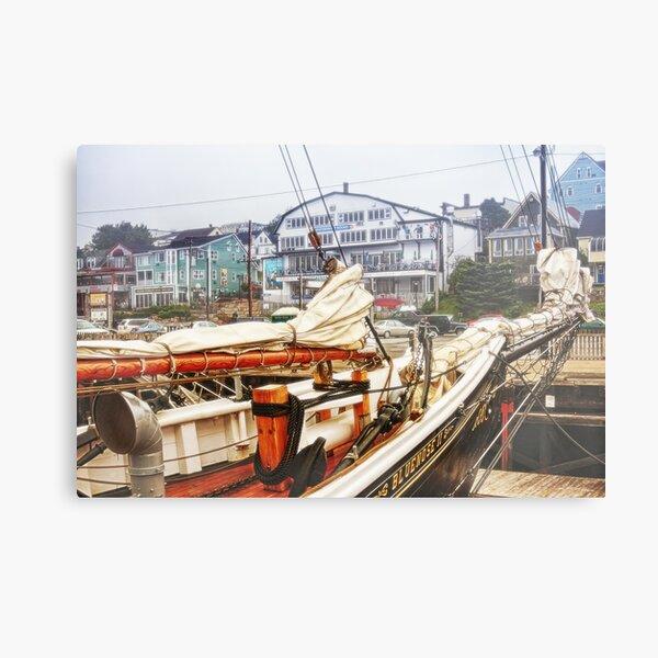 Foggy day in Lunenburg Harbor Metal Print
