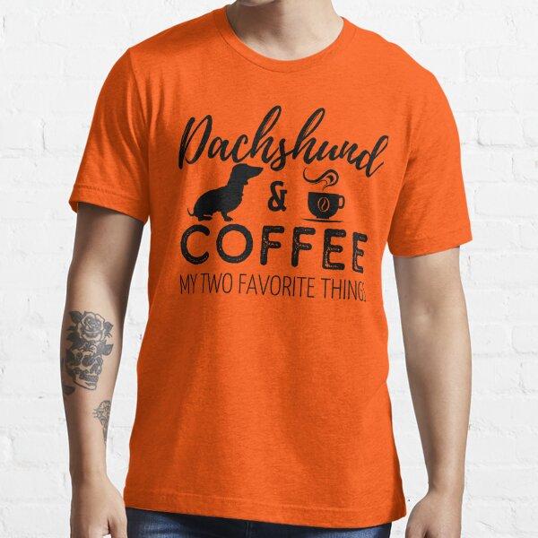 Dachshund & Coffee Print Essential T-Shirt