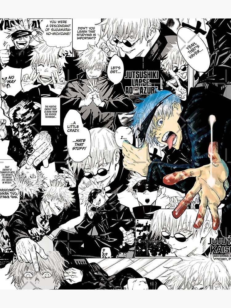 Gojo Satoru Jujutsu Kaisen Manga Collage by bakuh0e