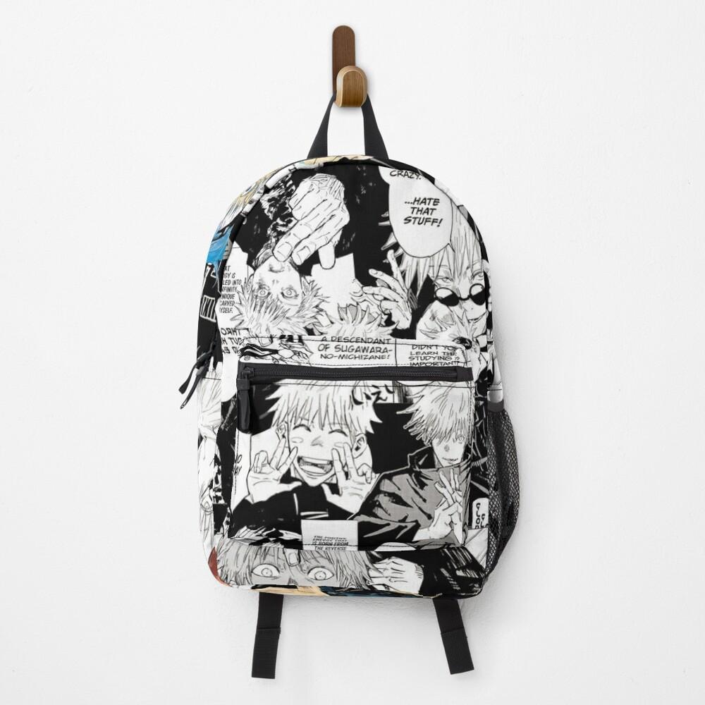 Gojo Satoru Jujutsu Kaisen Manga Collage Backpack