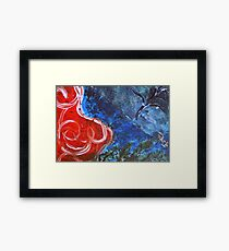 Ocean Fire Framed Print