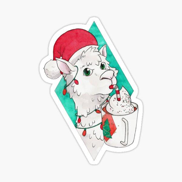 Petit alpaga de Noël Sticker