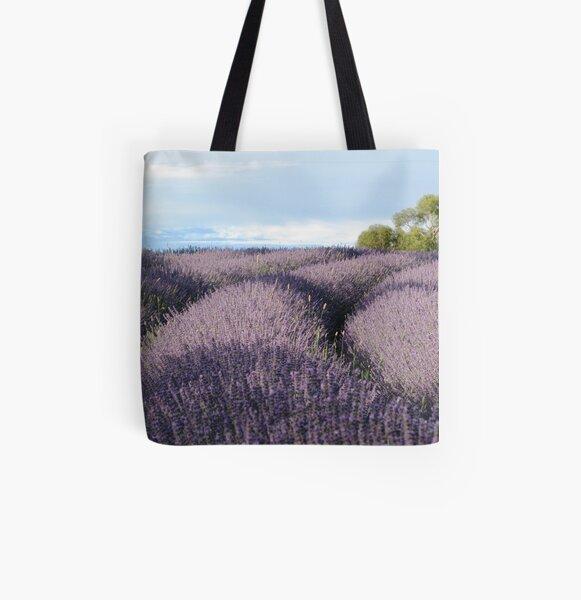 Lavandin Field All Over Print Tote Bag