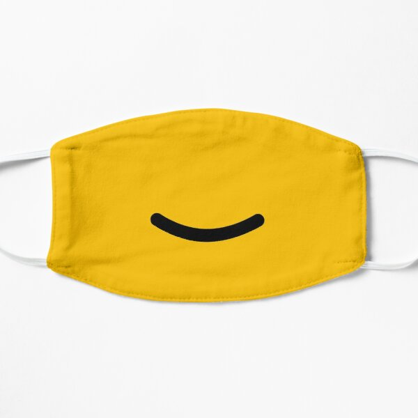 Little Yellow Smiley Face Flat Mask
