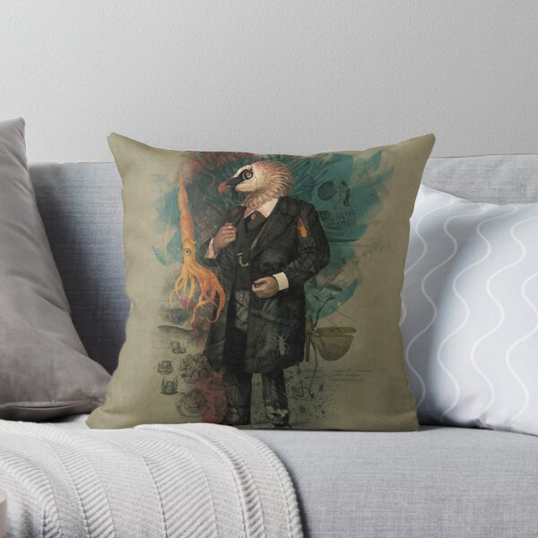 The Naturalist Throw Pillow