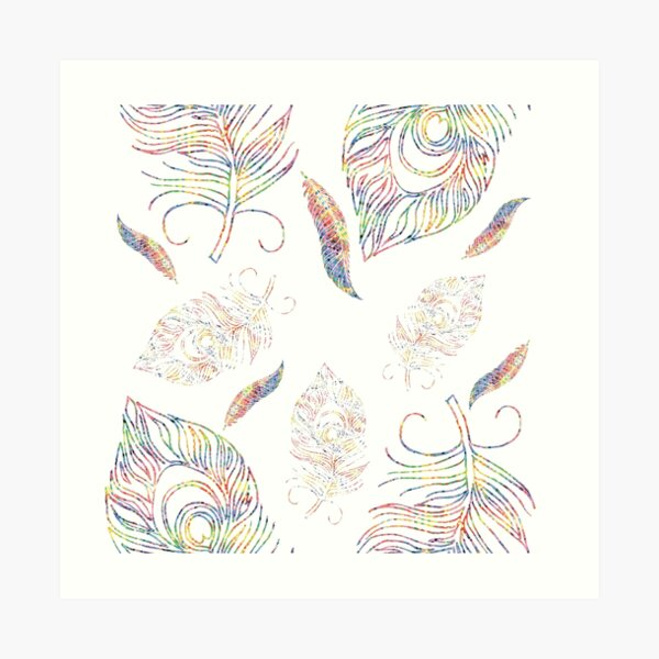 Woven Paper Feathers Art Print