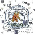 I am Beggin' You: Goldfish in a bowl by Alma Lee