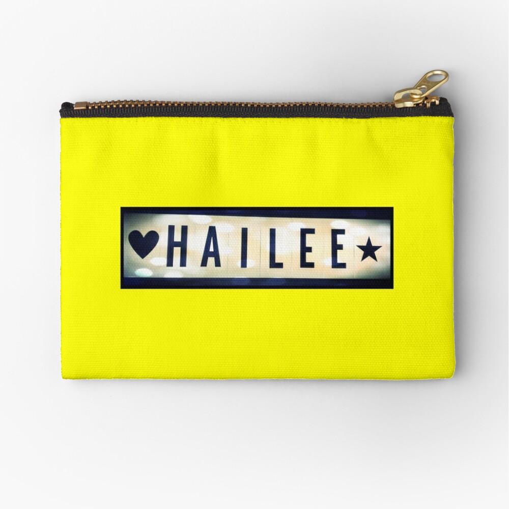Hailee, Hailee mask, Hailee mug, Hailee travel mug, Hailee socks, Hailee notebook Zipper Pouch