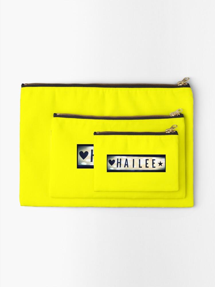 Alternate view of Hailee, Hailee mask, Hailee mug, Hailee travel mug, Hailee socks, Hailee notebook Zipper Pouch