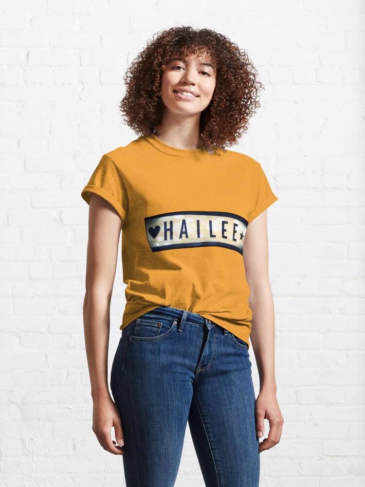 Alternate view of Hailee, Hailee mask, Hailee mug, Hailee travel mug, Hailee socks, Hailee notebook Classic T-Shirt