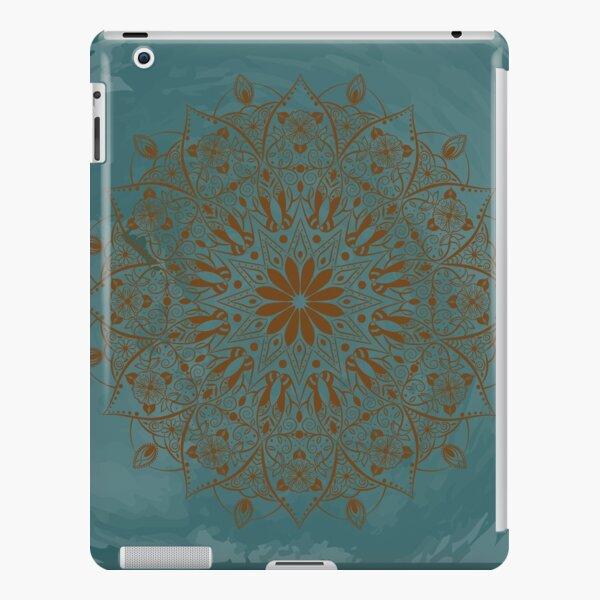 Floral Mandala teal watercolor  iPad Snap Case