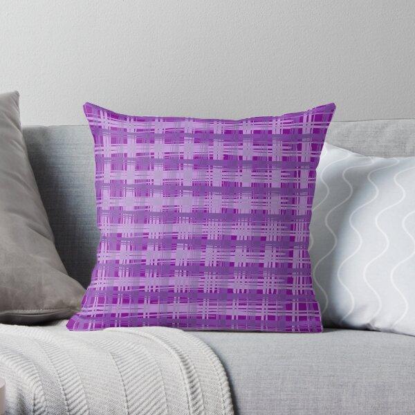 Plum Plaid Throw Pillow