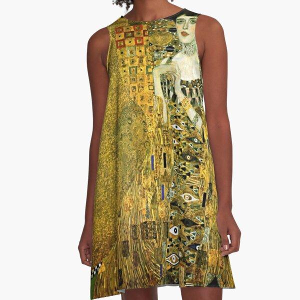 Gustav Klimt Adele Bloch-Bauer I A-Line Dress