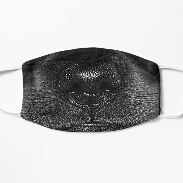 Black dachshund snout Flat Mask