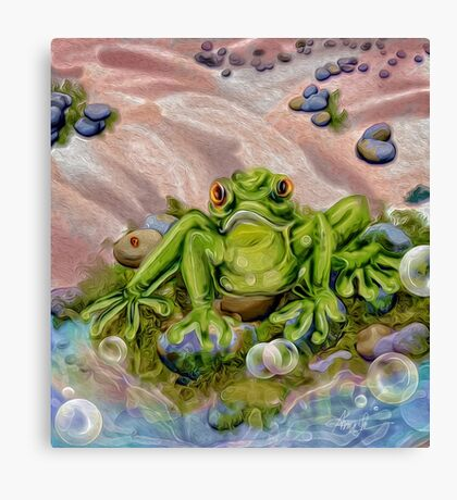 Frowny Froggie Canvas Print