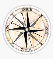 Antique Compass Rose Sticker