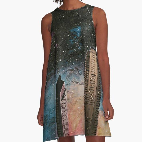 Cosmic neighborhood #3 A-Line Dress