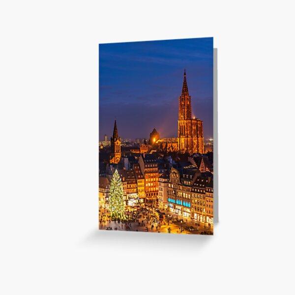 Noël à Strasbourg Carte de vœux