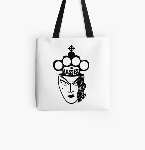 The Lasses Wot Kick Asses All Over Print Tote Bag