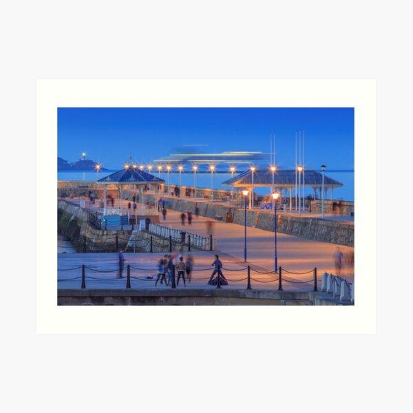 The East Pier, Dun Laoghaire Harbour Art Print