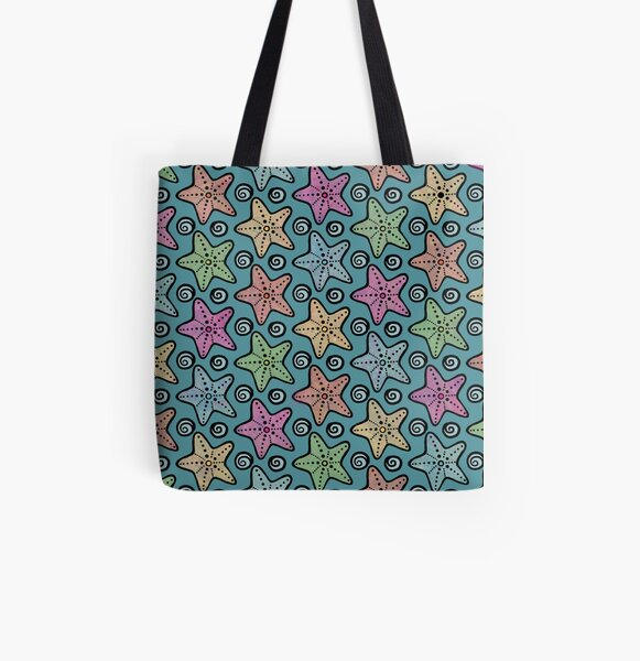 A Galaxy of Seastars All Over Print Tote Bag
