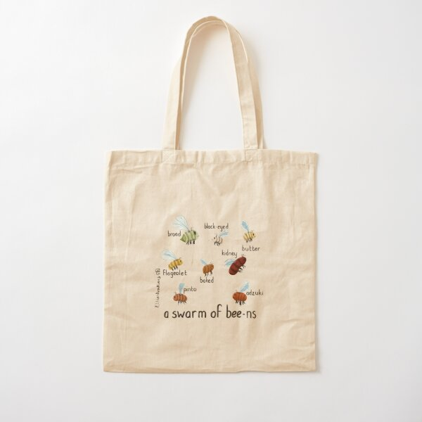 Bee Beans Cotton Tote Bag