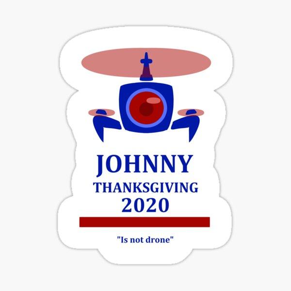 Anuncio de la campaña de Acción de Gracias de Johnny Pegatina