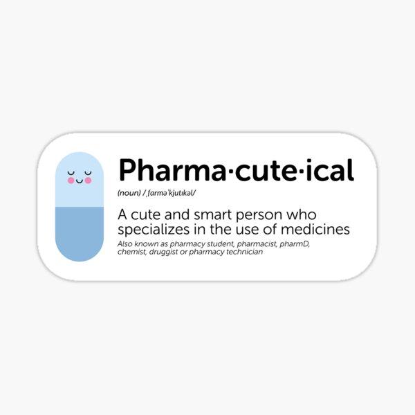 Blue pharma-cute-ical definition Sticker