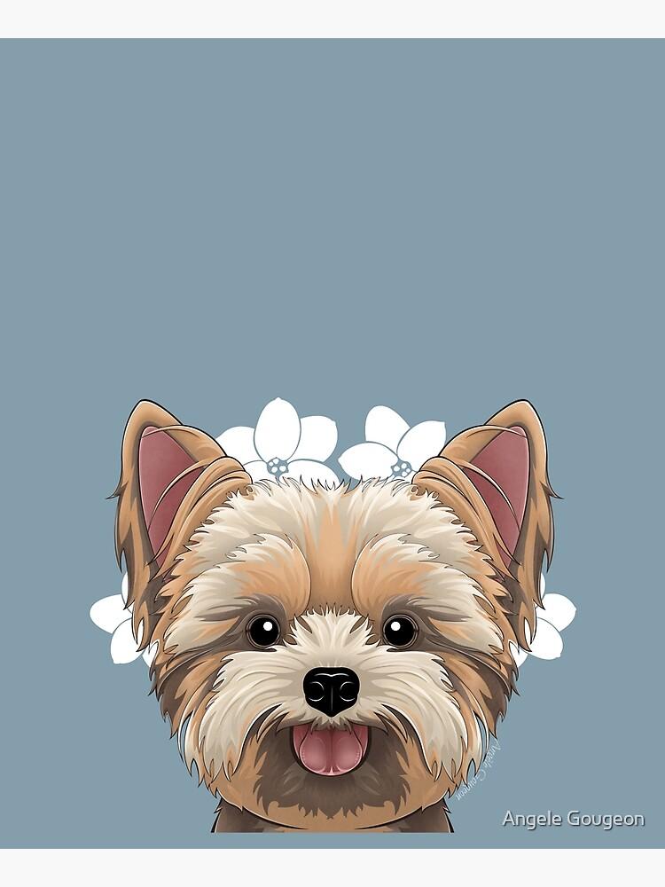 Peeking Yorkie (Flower Version) by AnMGoug