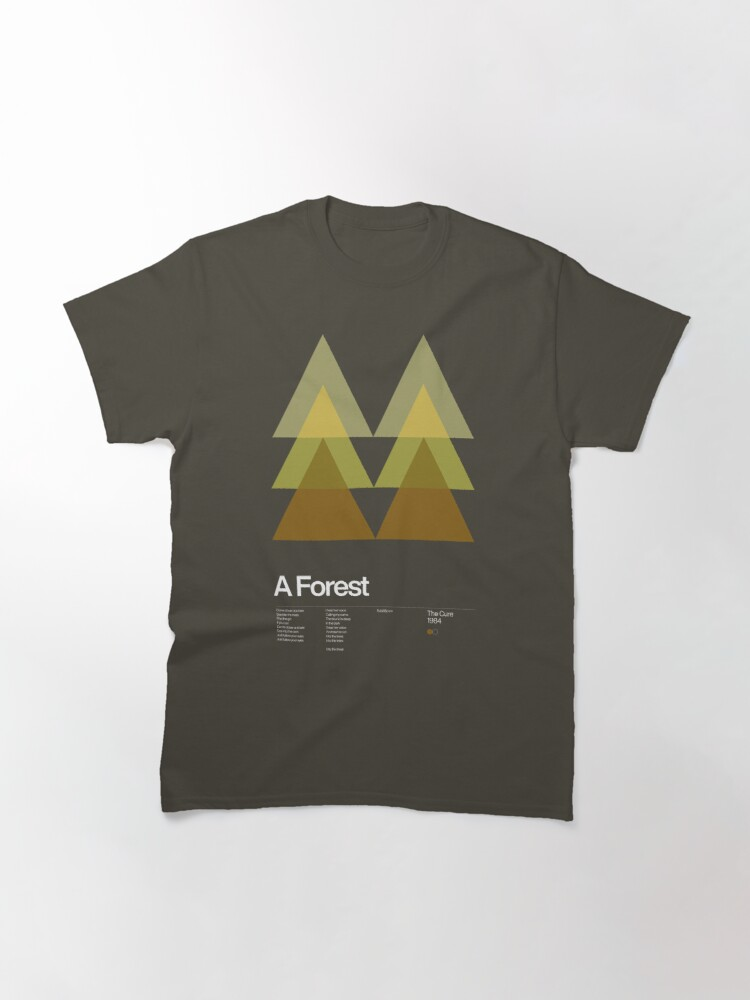 Alternate view of The Cure - A Forest 1984 - New Wave song Minimalistic Swiss Graphic Design Classic T-Shirt