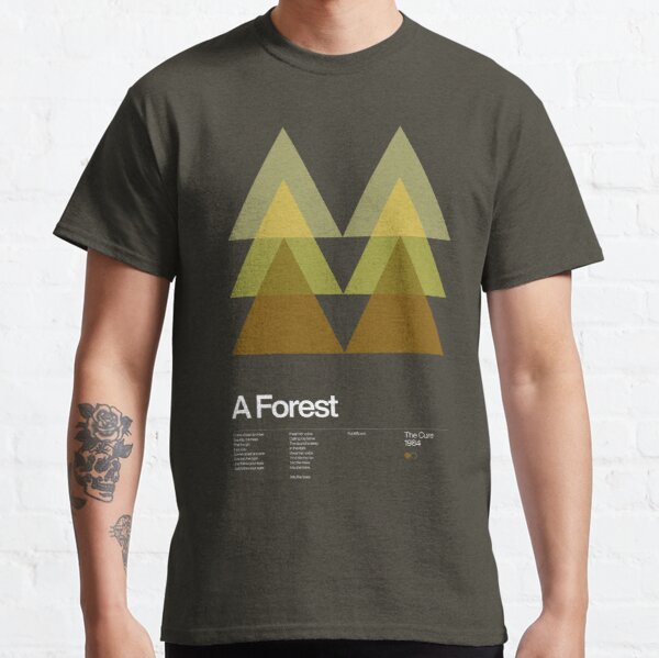 The Cure - A Forest 1984 - New Wave song Minimalistic Swiss Graphic Design Classic T-Shirt