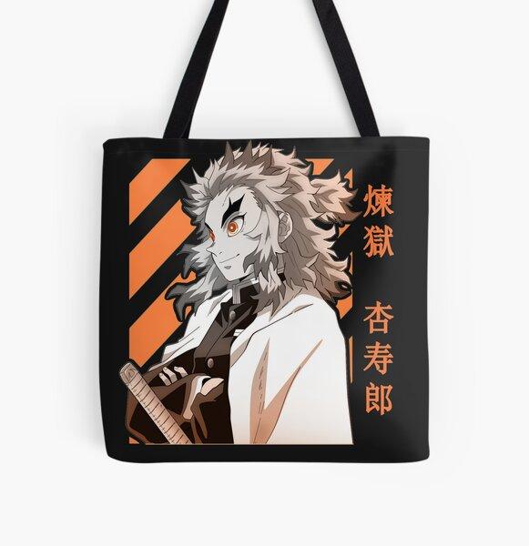 Kyojuro Rengoku Demon Slayer Kimetsu No Yaiba Design Tote bag doublé