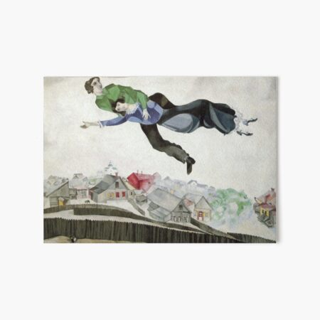 Over the Town (1913) by Marc Chagall Art Board Print