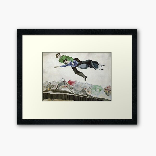 Over the Town (1913) by Marc Chagall Framed Art Print