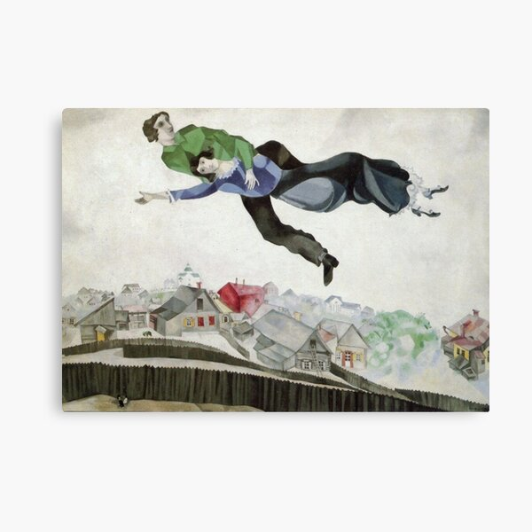 Over the Town (1913) by Marc Chagall Canvas Print