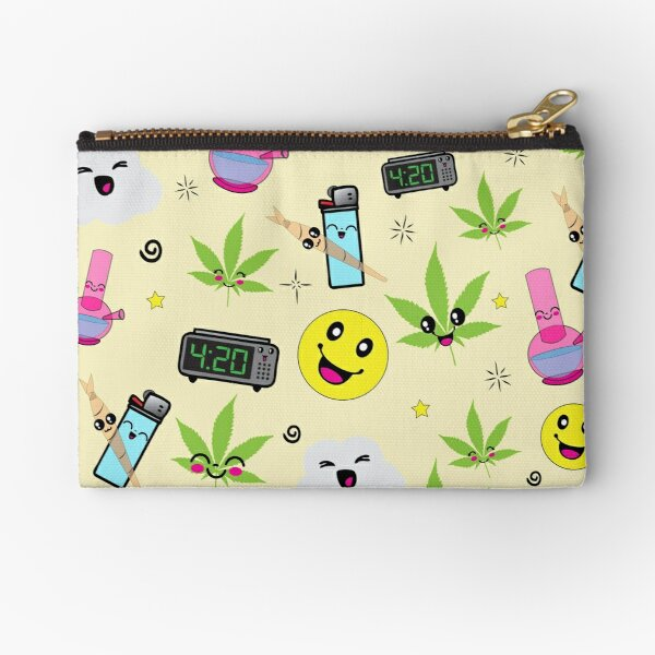 Super awesome Cute Stoner weed stuff Zipper Pouch