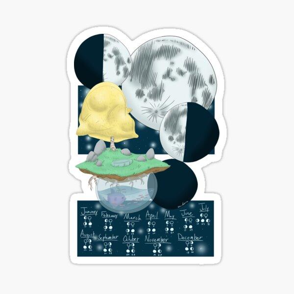 Lunar Calendar floating island Sticker