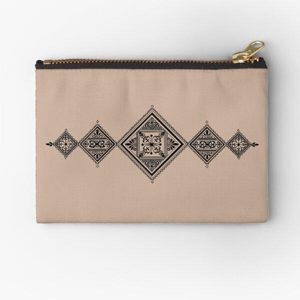 Black Fessi henna design Zipper Pouch