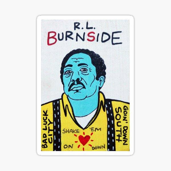 R.L. Burnside Blues Folk Art Sticker