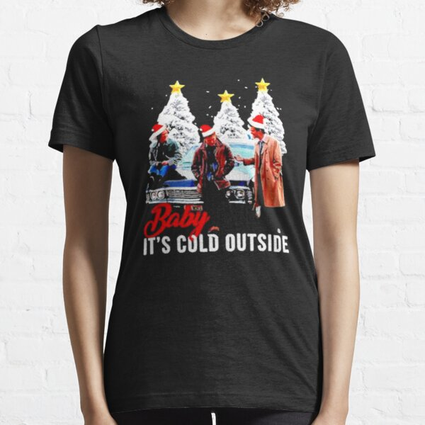 Baby It's cold outside : Supernatural characters santa Christmas tree Essential T-Shirt