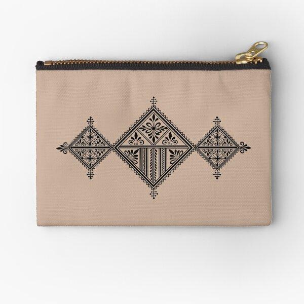 Black Fessi design Zipper Pouch