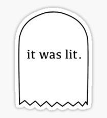it was lit headstone.  Sticker
