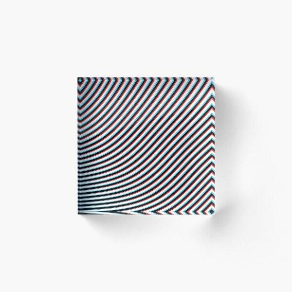 Optical Eye Trip Illusion  Acrylic Block