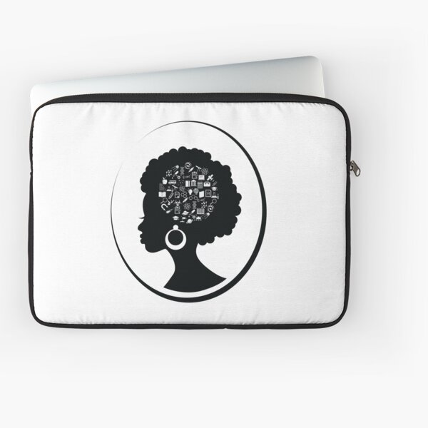 Science on the Afro (Black) Laptop Sleeve