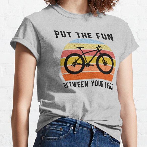 Put The Fun Between Your Legs Biking T-shirt Funny Rude Bicycle Long Sleeve Tee