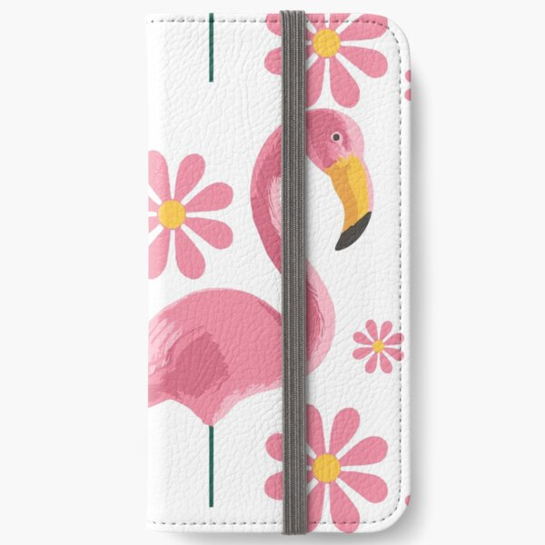 Pink Flamingo Party iPhone Wallet